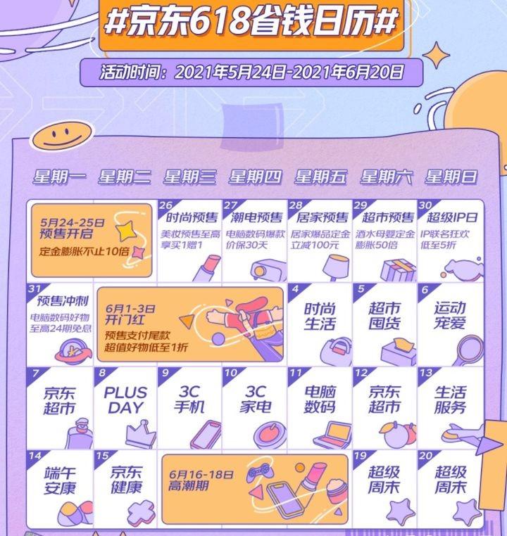2021年618京东活动时间  关于2021年618京东活动时间的说明