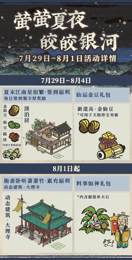 江南百景图萤萤夏夜活动有哪些 关于江南百景图萤萤夏夜活动的介绍