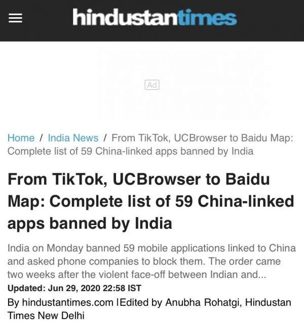 印度把火撒向59款中国APP!