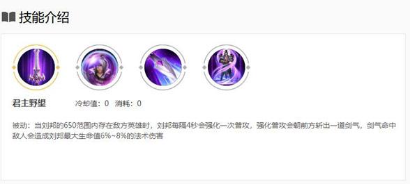 王者荣耀S21赛季刘邦出装玩法 刘邦最强出装攻略