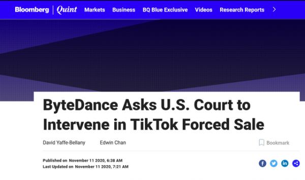 tiktok挑战CFIUS总统令 再起诉美政府